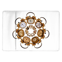 Time Clock Alarm Clock Time Of Samsung Galaxy Tab 10 1  P7500 Flip Case by Celenk