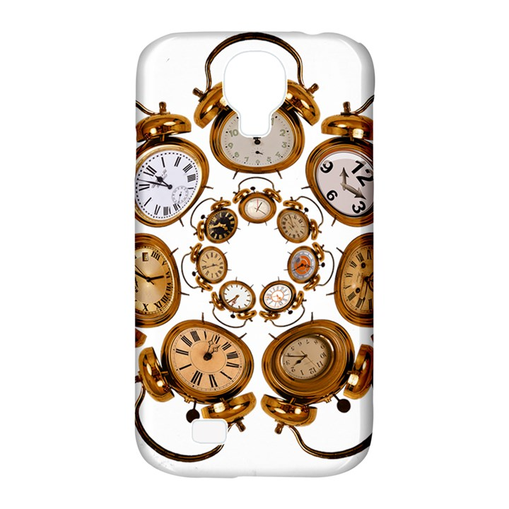 Time Clock Alarm Clock Time Of Samsung Galaxy S4 Classic Hardshell Case (PC+Silicone)