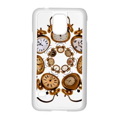 Time Clock Alarm Clock Time Of Samsung Galaxy S5 Case (white) by Celenk