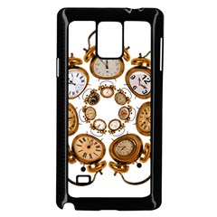 Time Clock Alarm Clock Time Of Samsung Galaxy Note 4 Case (black) by Celenk