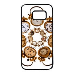 Time Clock Alarm Clock Time Of Samsung Galaxy S7 Black Seamless Case by Celenk