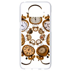 Time Clock Alarm Clock Time Of Samsung Galaxy S8 White Seamless Case by Celenk