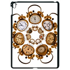Time Clock Alarm Clock Time Of Apple Ipad Pro 9 7   Black Seamless Case by Celenk
