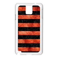 Stripes2 Black Marble & Copper Paint Samsung Galaxy Note 3 N9005 Case (white)