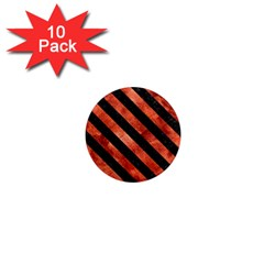 Stripes3 Black Marble & Copper Paint 1  Mini Magnet (10 Pack)  by trendistuff