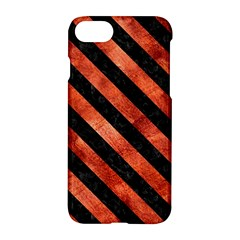 Stripes3 Black Marble & Copper Paint Apple Iphone 8 Hardshell Case
