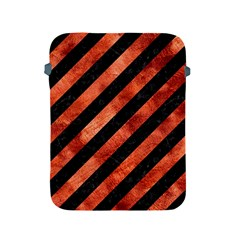 Stripes3 Black Marble & Copper Paint (r) Apple Ipad 2/3/4 Protective Soft Cases by trendistuff