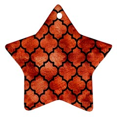 Tile1 Black Marble & Copper Paint Star Ornament (two Sides) by trendistuff