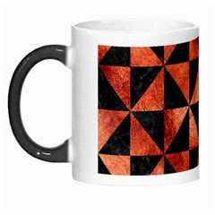Triangle1 Black Marble & Copper Paint Morph Mugs by trendistuff
