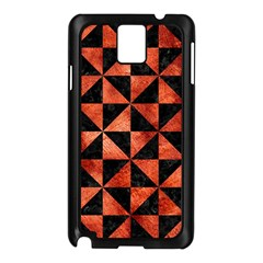 Triangle1 Black Marble & Copper Paint Samsung Galaxy Note 3 N9005 Case (black) by trendistuff
