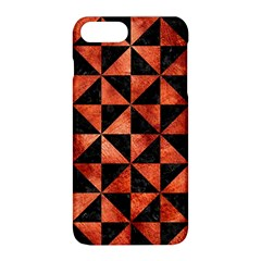 Triangle1 Black Marble & Copper Paint Apple Iphone 8 Plus Hardshell Case by trendistuff