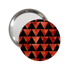 Triangle2 Black Marble & Copper Paint 2 25  Handbag Mirrors by trendistuff