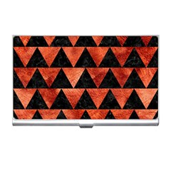 Triangle2 Black Marble & Copper Paint Business Card Holders by trendistuff