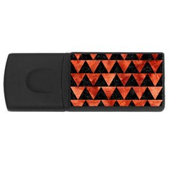 Triangle2 Black Marble & Copper Paint Rectangular Usb Flash Drive by trendistuff