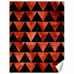 Triangle2 Black Marble & Copper Paint Canvas 18  X 24   by trendistuff