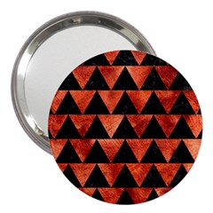 Triangle2 Black Marble & Copper Paint 3  Handbag Mirrors by trendistuff