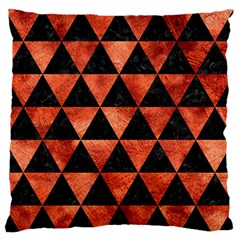 Triangle3 Black Marble & Copper Paint Large Flano Cushion Case (two Sides)