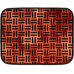 Woven1 Black Marble & Copper Paint Fleece Blanket (mini) by trendistuff