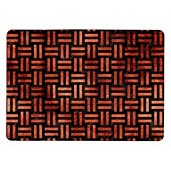 Woven1 Black Marble & Copper Paint (r) Samsung Galaxy Tab 10 1  P7500 Flip Case by trendistuff