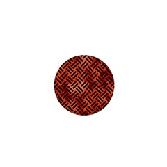 Woven2 Black Marble & Copper Paint 1  Mini Magnets by trendistuff
