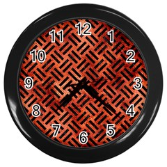 Woven2 Black Marble & Copper Paint Wall Clocks (black) by trendistuff