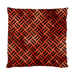 Woven2 Black Marble & Copper Paint Standard Cushion Case (one Side) by trendistuff