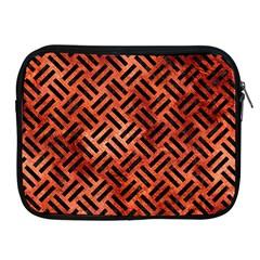 Woven2 Black Marble & Copper Paint Apple Ipad 2/3/4 Zipper Cases by trendistuff