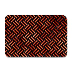 Woven2 Black Marble & Copper Paint (r) Plate Mats by trendistuff
