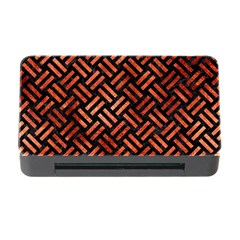 Woven2 Black Marble & Copper Paint (r) Memory Card Reader With Cf by trendistuff