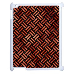 Woven2 Black Marble & Copper Paint (r) Apple Ipad 2 Case (white) by trendistuff