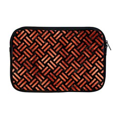 Woven2 Black Marble & Copper Paint (r) Apple Macbook Pro 17  Zipper Case by trendistuff