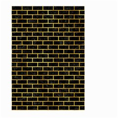 Brick1 Black Marble & Gold Paint (r) Large Garden Flag (two Sides) by trendistuff