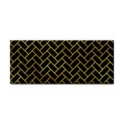 Brick2 Black Marble & Gold Paint (r) Cosmetic Storage Cases by trendistuff