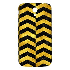 Chevron2 Black Marble & Gold Paint Samsung Galaxy Mega I9200 Hardshell Back Case by trendistuff