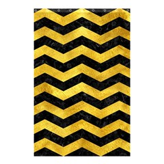 Chevron3 Black Marble & Gold Paint Shower Curtain 48  X 72  (small)  by trendistuff