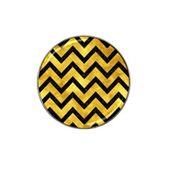 Chevron9 Black Marble & Gold Paint Hat Clip Ball Marker (10 Pack) by trendistuff