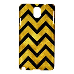 Chevron9 Black Marble & Gold Paint Samsung Galaxy Note 3 N9005 Hardshell Case by trendistuff
