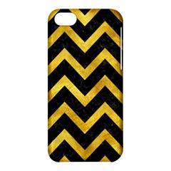 Chevron9 Black Marble & Gold Paint (r) Apple Iphone 5c Hardshell Case by trendistuff