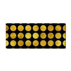 Circles1 Black Marble & Gold Paint (r) Cosmetic Storage Cases by trendistuff