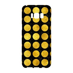 Circles1 Black Marble & Gold Paint (r) Samsung Galaxy S8 Hardshell Case  by trendistuff