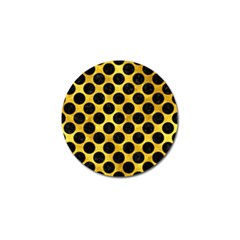 Circles2 Black Marble & Gold Paint Golf Ball Marker (10 Pack) by trendistuff
