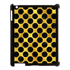 Circles2 Black Marble & Gold Paint Apple Ipad 3/4 Case (black) by trendistuff