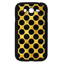 Circles2 Black Marble & Gold Paint Samsung Galaxy Grand Duos I9082 Case (black) by trendistuff