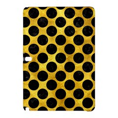 Circles2 Black Marble & Gold Paint Samsung Galaxy Tab Pro 12 2 Hardshell Case by trendistuff