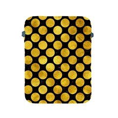 Circles2 Black Marble & Gold Paint (r) Apple Ipad 2/3/4 Protective Soft Cases by trendistuff