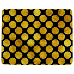 Circles2 Black Marble & Gold Paint (r) Jigsaw Puzzle Photo Stand (rectangular) by trendistuff
