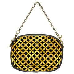 Circles3 Black Marble & Gold Paint (r) Chain Purses (one Side)  by trendistuff