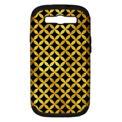 Circles3 Black Marble & Gold Paint (r) Samsung Galaxy S Iii Hardshell Case (pc+silicone) by trendistuff