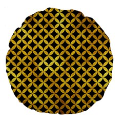 Circles3 Black Marble & Gold Paint (r) Large 18  Premium Flano Round Cushions by trendistuff