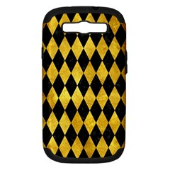 Diamond1 Black Marble & Gold Paint Samsung Galaxy S Iii Hardshell Case (pc+silicone) by trendistuff